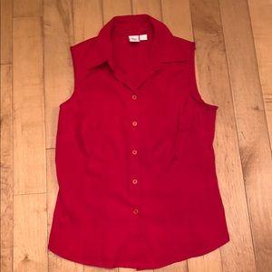 Red button down blouse tank apt. 9